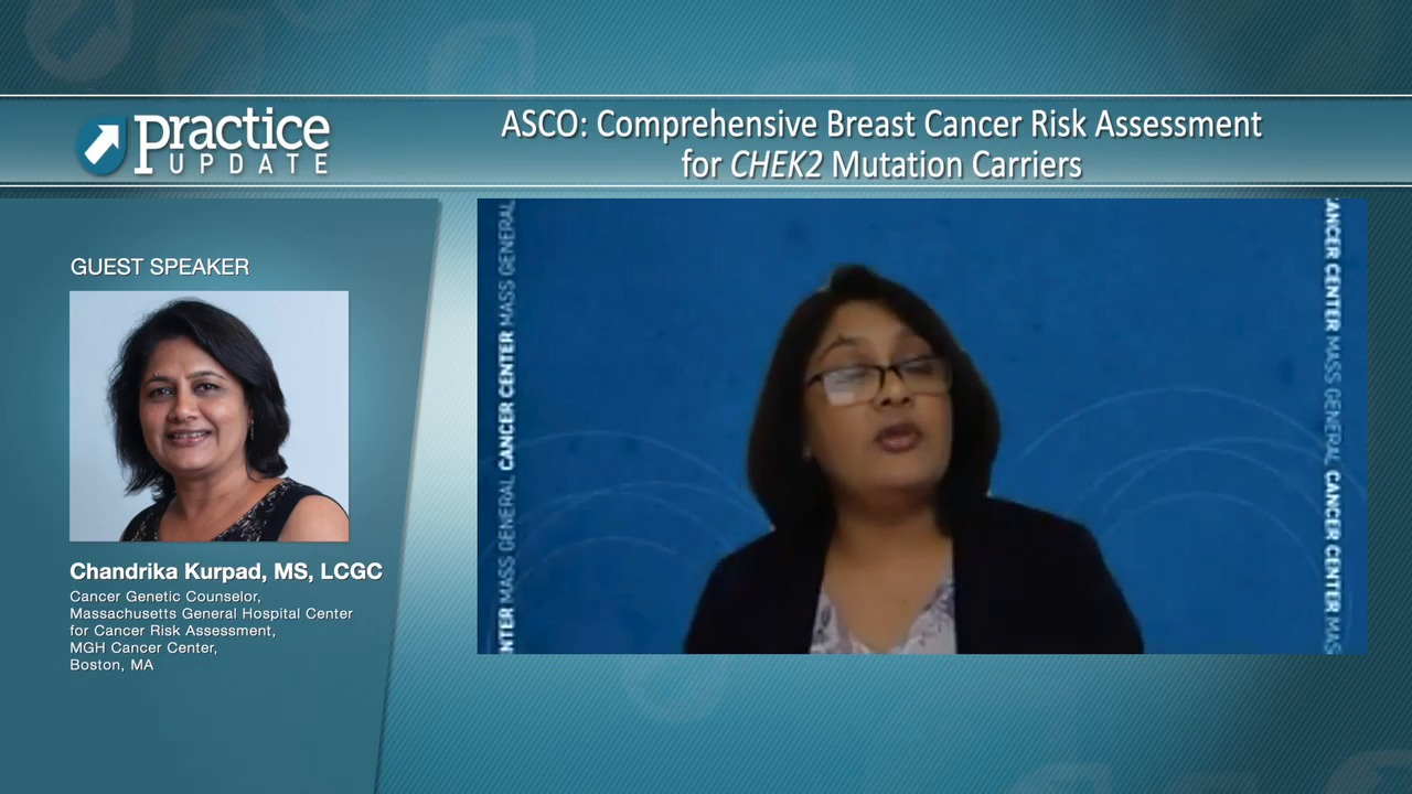 Asco Comprehensive Breast Cancer Risk Assessment For Chek2 Mutation Carriers Practiceupdate