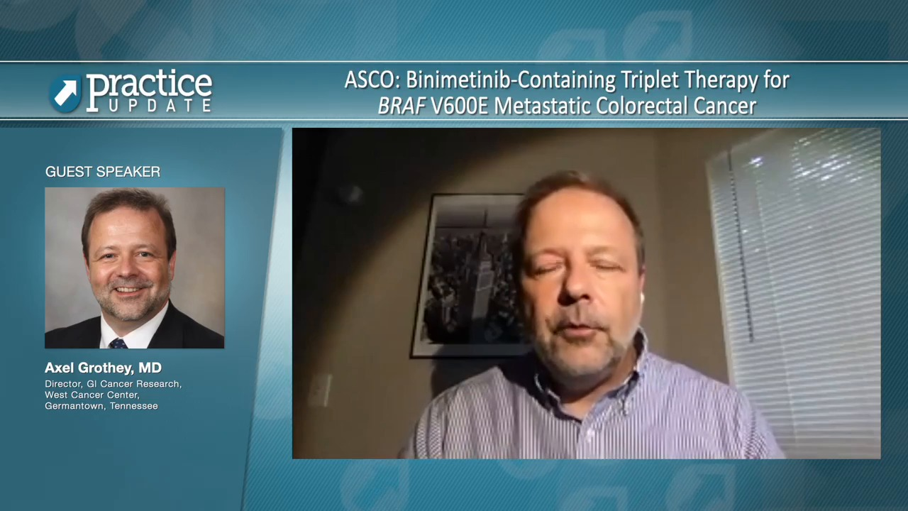 Asco Binimetinib Containing Triplet Therapy For Braf V600e Metastatic Colorectal Cancer Practiceupdate