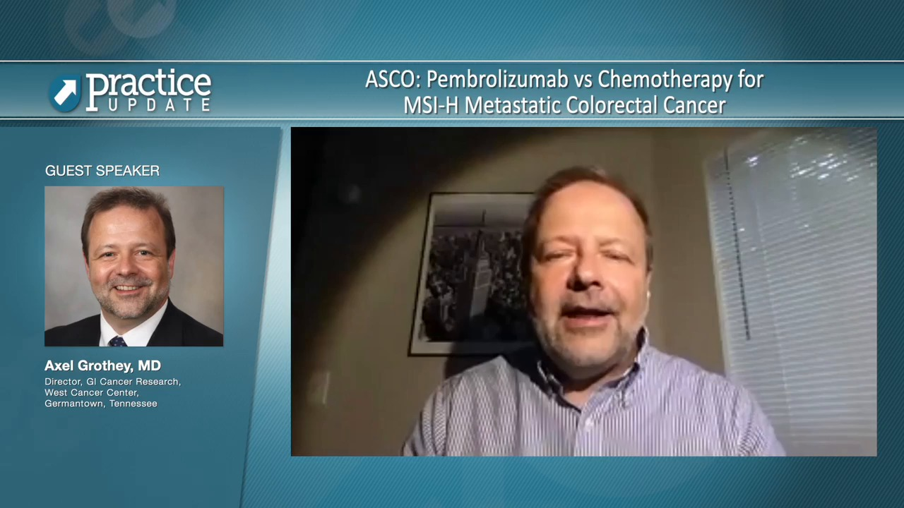 Asco Pembrolizumab Vs Chemotherapy For Msi H Metastatic Colorectal Cancer Practiceupdate