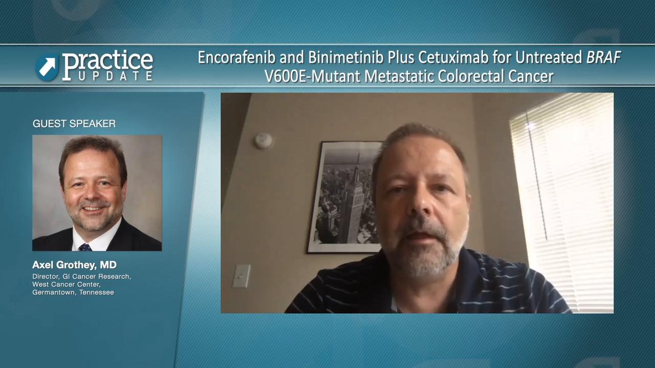 Encorafenib And Binimetinib Plus Cetuximab For Untreated Braf V600e Mutant Metastatic Colorectal Cancer Practiceupdate